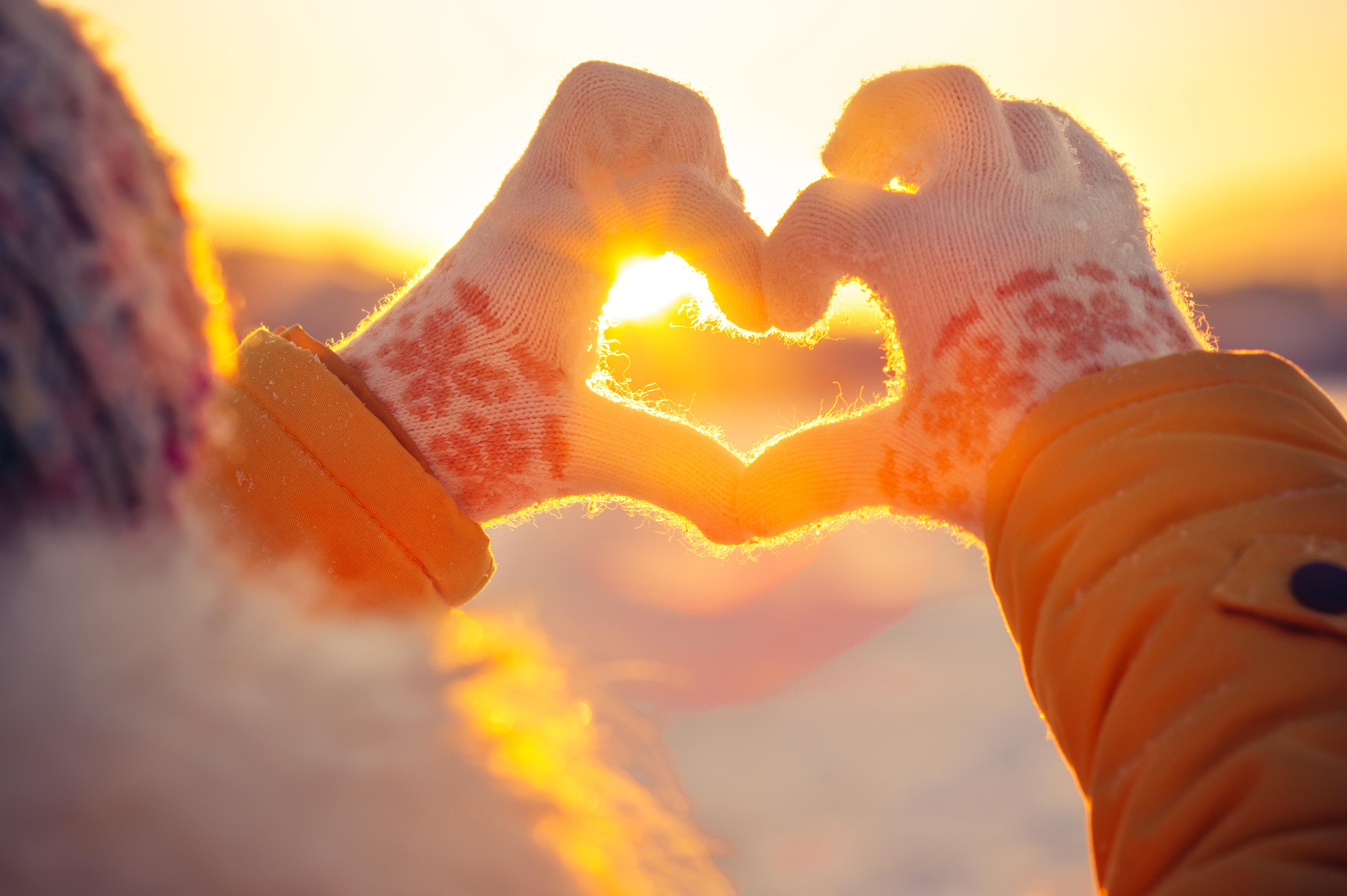 Herz Liebe Schnee Winter