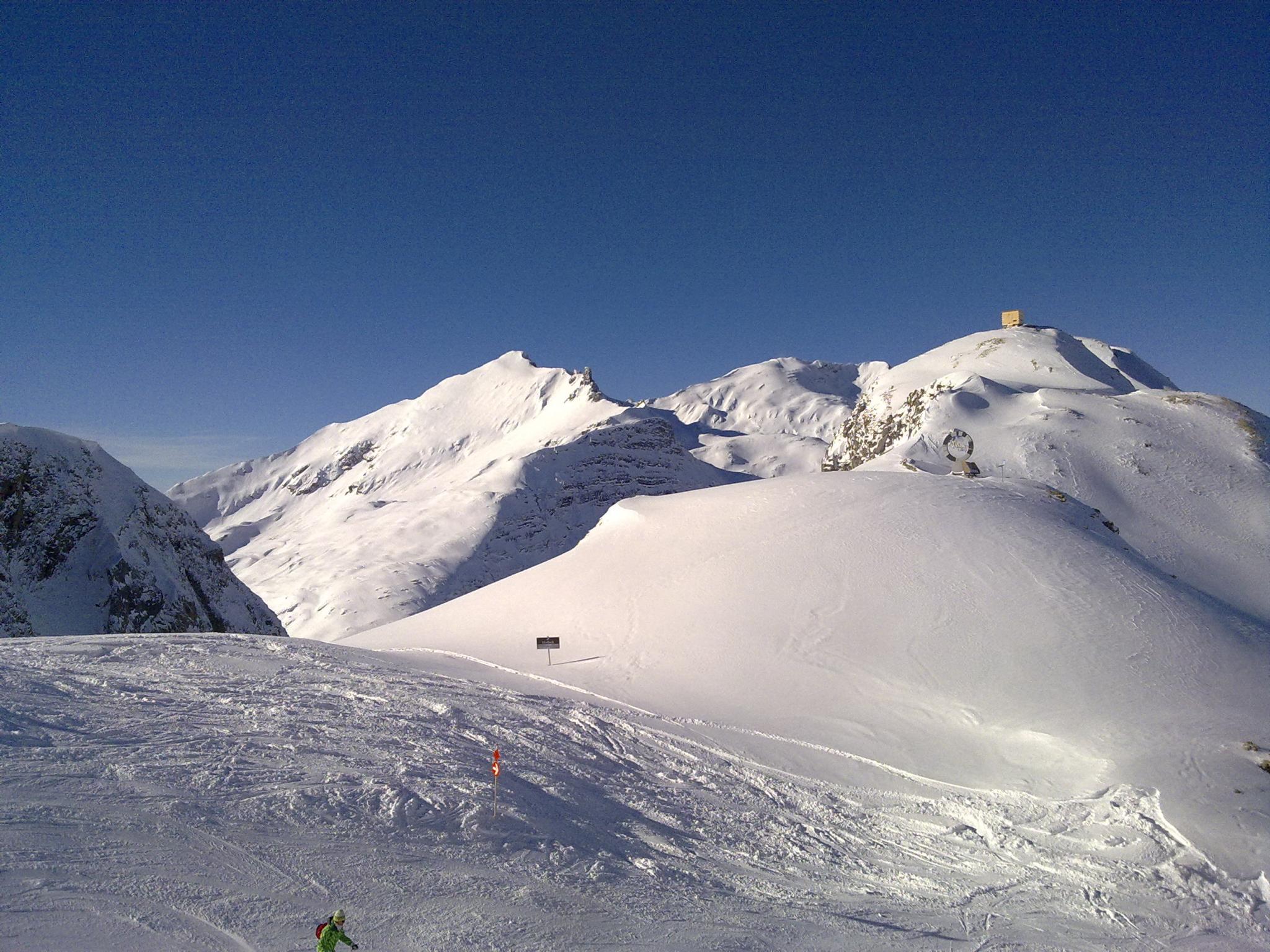 Skigebiet in Zürs