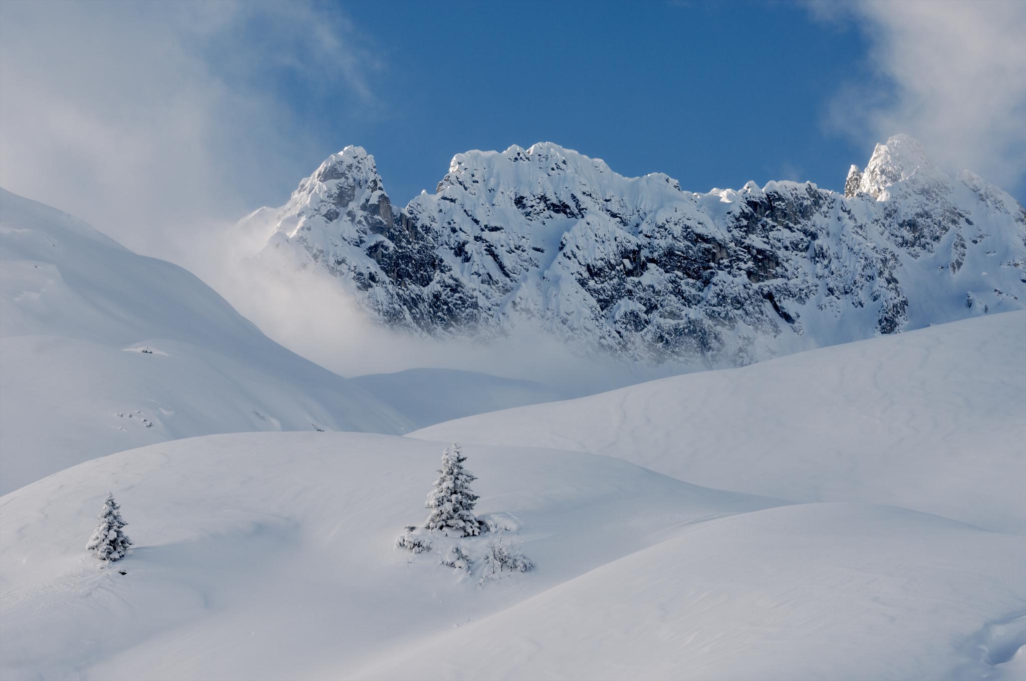Region Schnee Landschaft