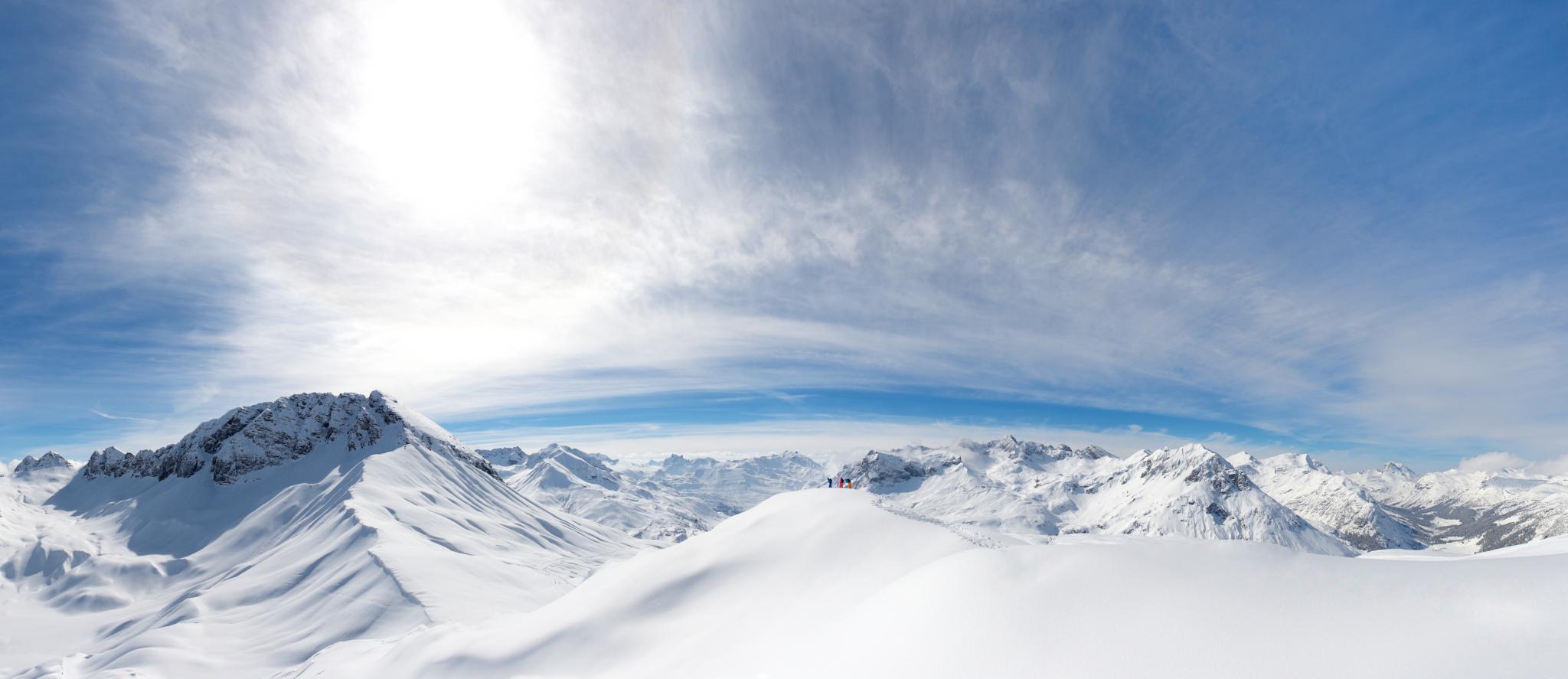 Lech Zürs Landschaft Berge Skigebiet