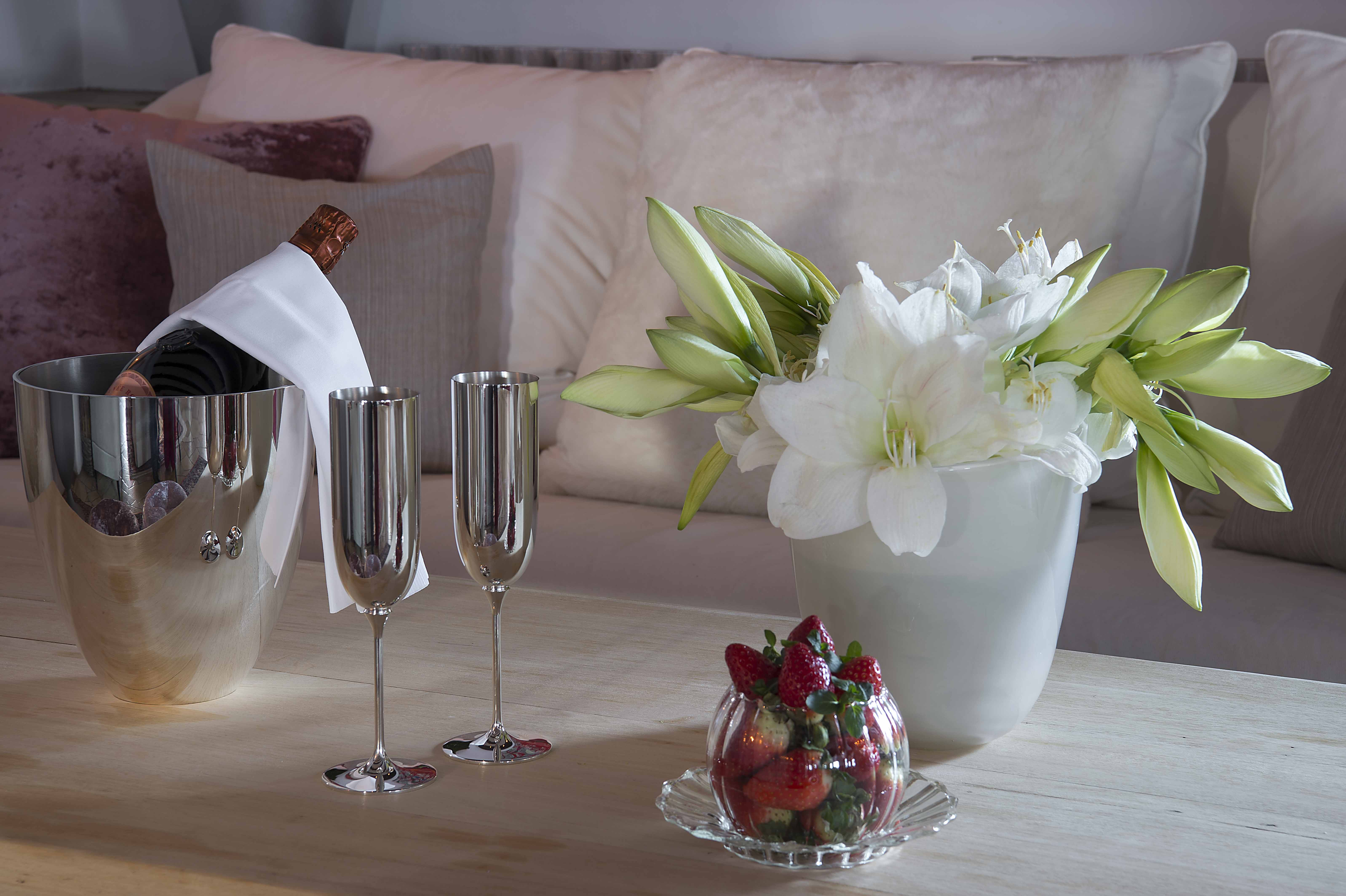 Thurnher's Lobby Champagner und Rosen