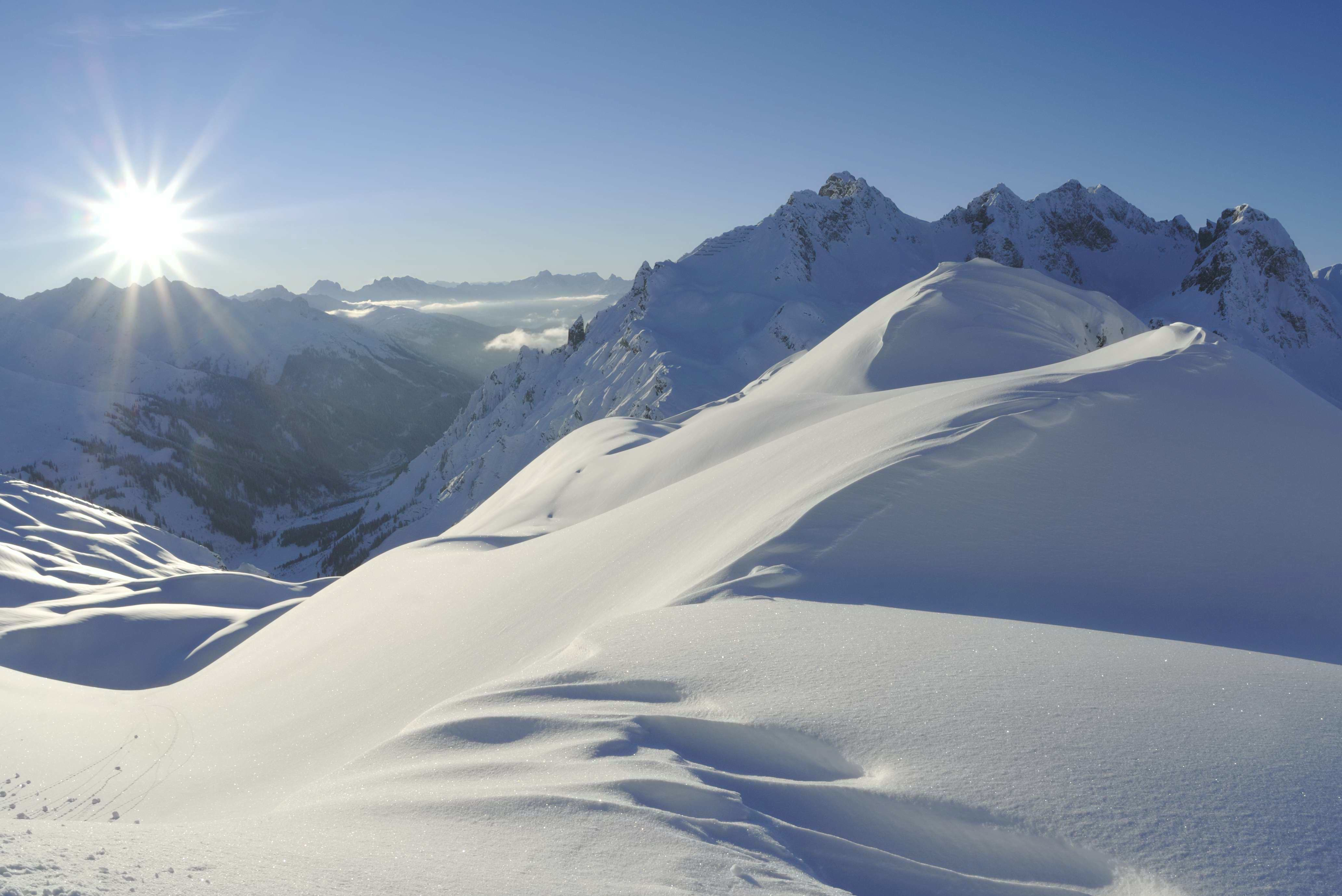 Zürs am Arlberg Berge Schnee
